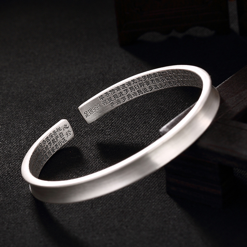 цена 2018 Special Offer Hot Sale Bangle Ancient Ways Is Drawing Contracted Joker Woman With Open Sutra Bracelet Sterling Wholesale