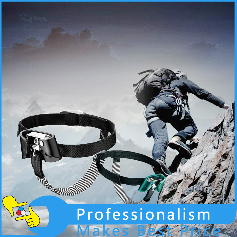 Outdoor Mountain Climbing Ascender Tool Boot Mounted Device Protector 8-13mm Rope Foot Riser Equipment outdoor carabiner 3 claw grappling hook rock climbing mountain gear