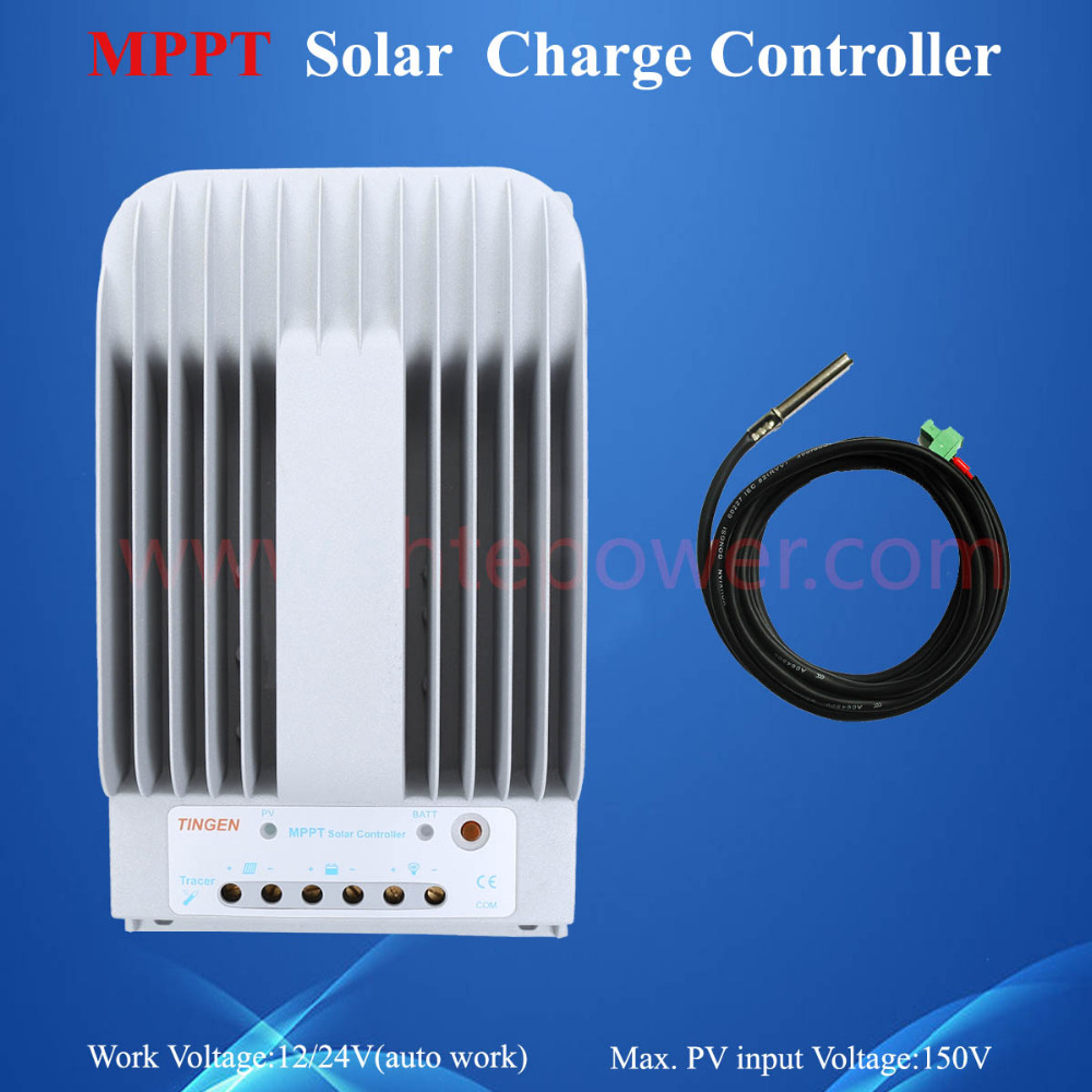 12v 24v automatic solar charge controller 20a,tracer2215bn mppt charge controller 20a 12 24v solar regulator with remote meter for duo battery charging