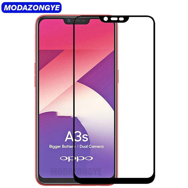 Screen Protector OPPO A3s Tempered Glass OPPO A3s Protective Film OPPO A3s  OPPOA3s CPH1803 CPH1805 Glass Full Cover