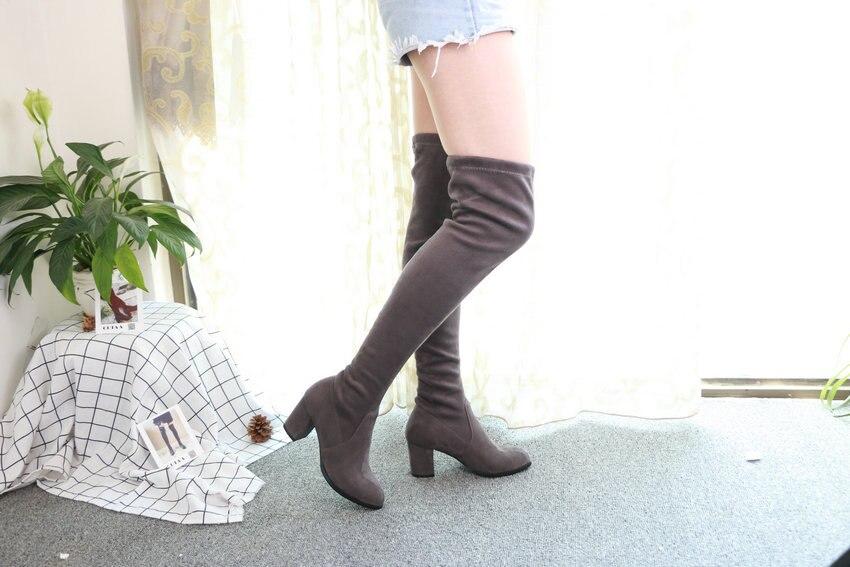 Women Over The Knee High Heel Winter Sexy Boots 56