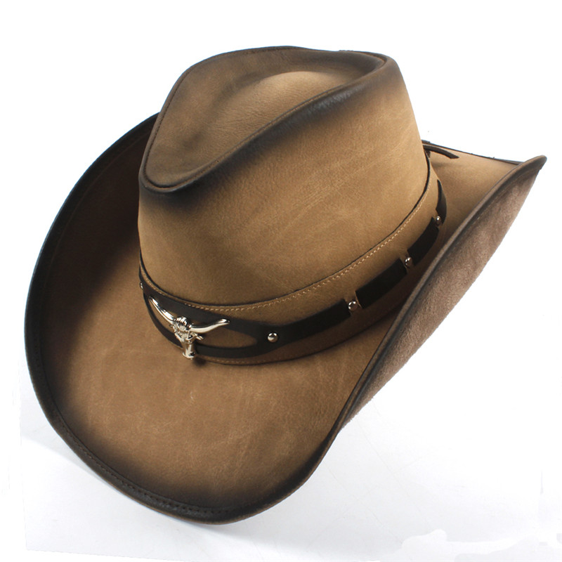 Western Leather Cowboy Hats for Women & Men 26