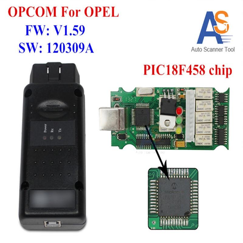 Prix pour 2017 Opcom USB Interface OBD2 CAN BUS Opel Outil De Diagnostic Scanner Dernière Version V1.59 Pour G M, Opel Série, SAAB