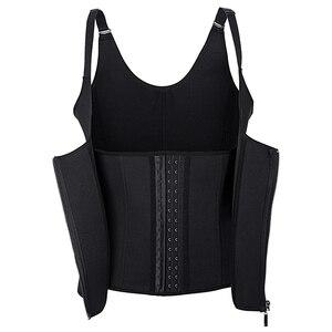 Image 2 - Frauen Taille Trainer Körper Shaper Workout Taille Korsett Bauch Cincher Control Weste Zipper Unterbrust Korsetts und Bustiers XS 4XL