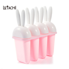 LSTACHi 4 ячейки Мороженое Поп форма для мороженого леденец плесень лоток Сковородка Кухня DIY