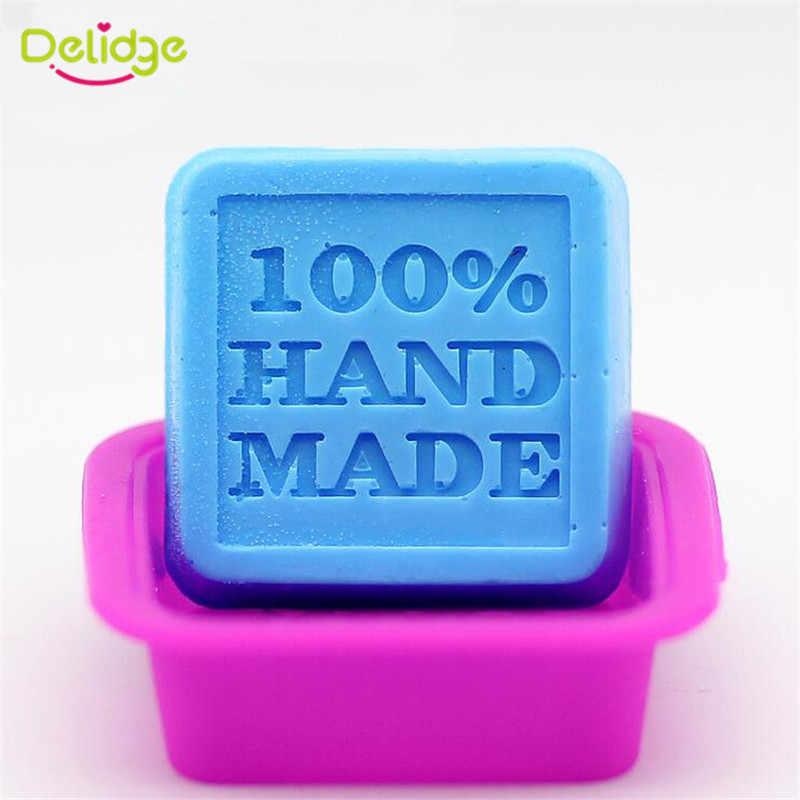 Delidge 1 قطعة مربع 100% اليدوية سيليكون قالب الكعكة ثلاثية الأبعاد فندان الشوكولاته صابون يدوي الصنع قوالب لتقوم بها بنفسك أدوات الخبز المعجنات الزفاف