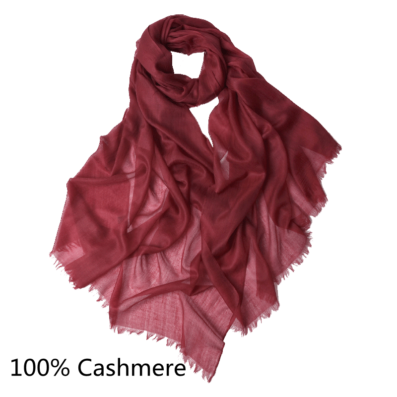 Red Soft Pashmina Style Scarf