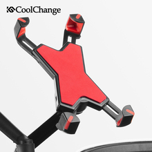 CoolChange Bicycle Anti-Slip Phone Holder Outdoor Sports Cycling Handlebar Mount Clip Stand Bike Cellphone Bracket