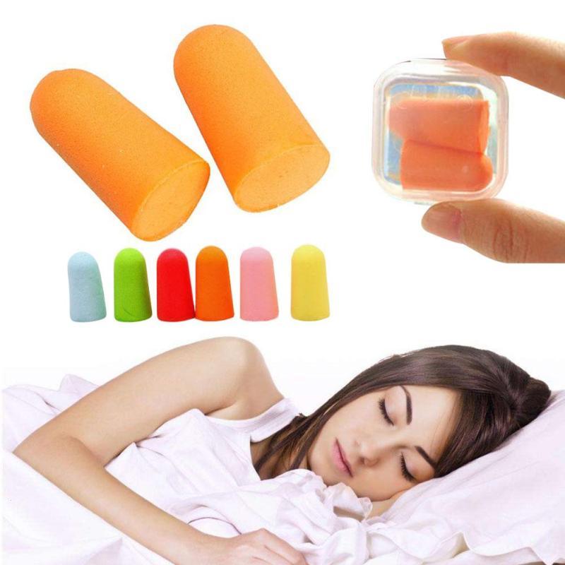 5 Pair Soft Sponge Ear Plugs Soundproof Earplugs Insulation Anti Noise Snoring Sleep Aid Swimming Travel Protective Helper U3