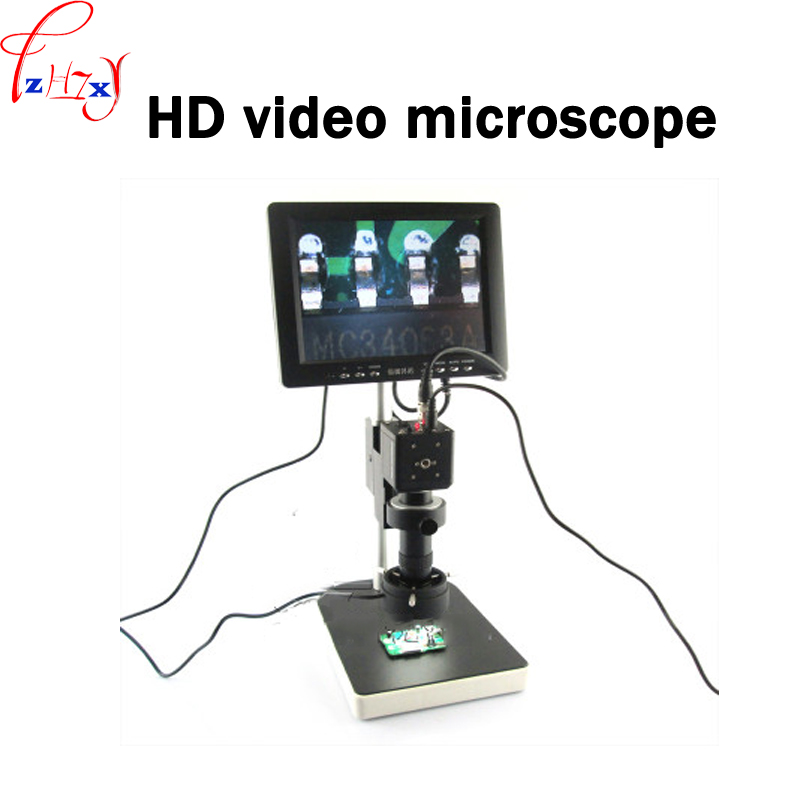 1pc 100-240V Electronic HD video microscope electronic video microscope apply to mobile phone circuit board maintenance image