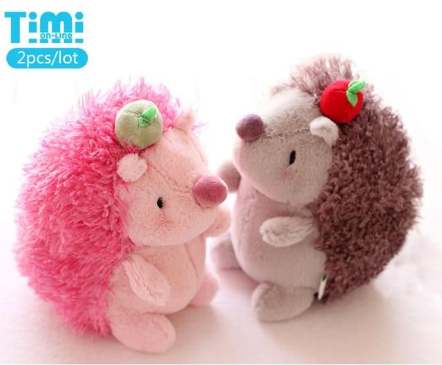 2014 New 2pcs Lot Lovers Hedgehog Plush Toys 20cm 7 9 Hedgehog Doll
