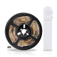 Night Light Motion Sensor Light LED Strip Waterproof PIR LED Cabinet Lamp Tape 5V LED Wall Lamp Wardrobe TV Background Lighting