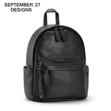 New Fashion 100% Genuine Leather Women Backpack Girl Schoolbag Ladies Casual Travel Bag Laptop Bag Notebook Casual Backpacks(China)