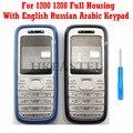 Hkfatel новый высококачественный чехол для Nokia 1200 1208  полный корпус для мобильного телефона  чехол для клавиатуры на английском  русском и арабс...
