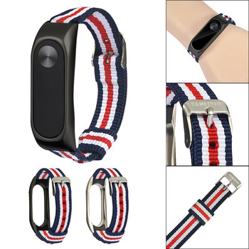 High Quality Watchbands Lightweight Nylon Adjustable Replacement Band Sport Strap For XIAOMI MI Band 2 Watch Strap smael 1708b