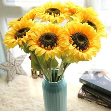 10 Stems Artificial Silk Flower Sunflower Fake Wall Decoration Lifelike Party Decorations