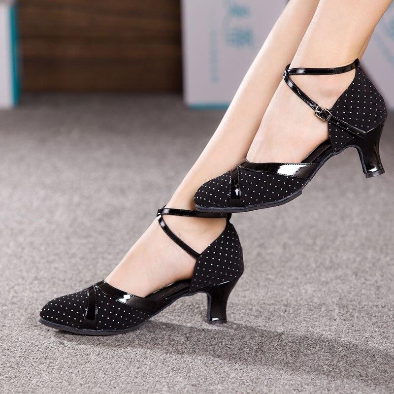 Hot Sale Women Ladies Ballroom Party Modern Dance Shoes Customized Heeled Tango Salsa Dancing Performance Shoes