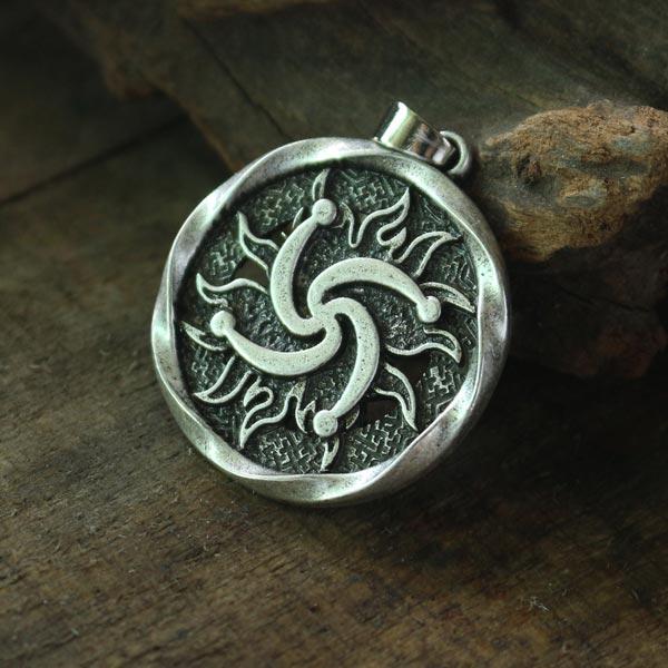 Lanseis 10pcs Rod Symbol Pendant Pagan Jewelry Slavic Amulet