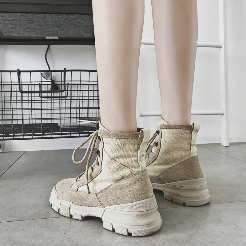 gray Siddons cream Femme Daim Femmes With Des En Wool Cuir brown 2018 forme Chaussures Cream black black Pour Wool Bottes Wool Vache Mujer brown Wool gray Cheville Zapatos De D'hiver Plate qrwExqgHR