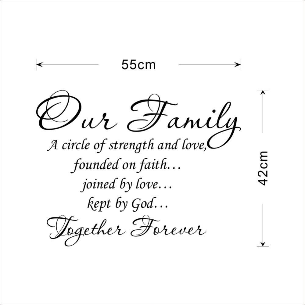Family Is Forever Quotes Our Family Together Forever Quotes Letter Pattern Design Pvc Wall