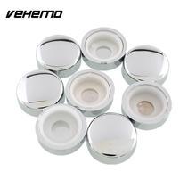 Vehemo 8 шт./компл. серебряные хромовые колпачки номерной знак винт для рамы шляпки для гаек набор колец адаптера