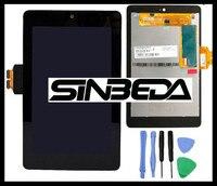 Sinbeda AAAAAA + 교체 Asus 구글 넥서스 7 2012 세대 ME370 LCD 디스플레이 + 터치 스크린 디지