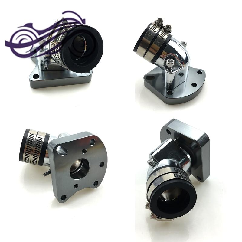 refitting general purpose aluminum alloy increase Carburetor intake manifold interface For Honda DIO50 ZX AF34 AF35