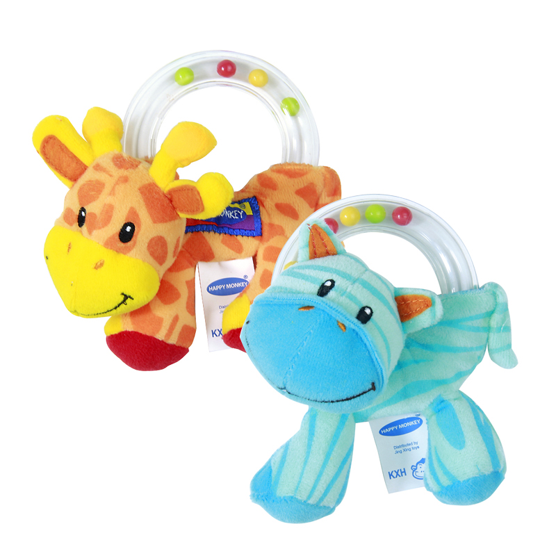 Baby Rattle Toys : New pc baby toy cute plush rattle holding animal