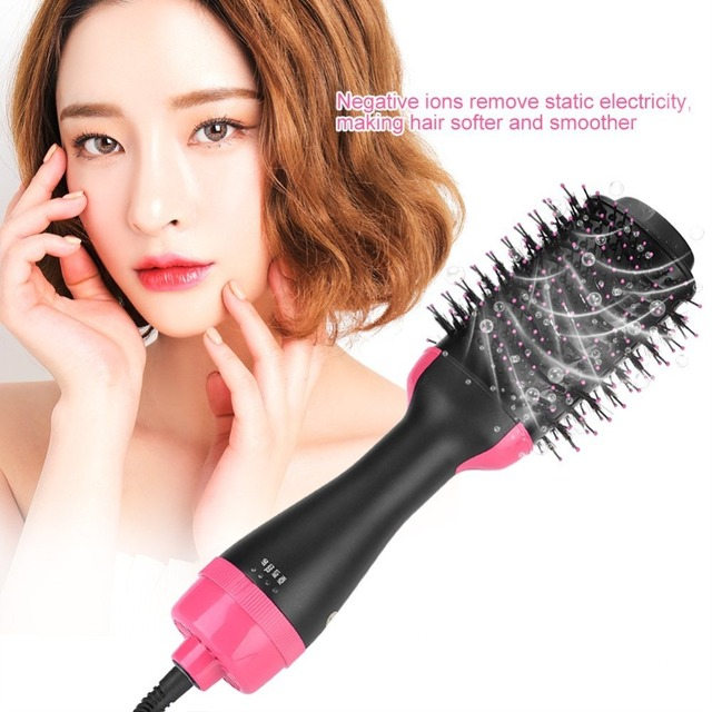 Multifunctional 2 in 1 Hair Dryer Volumizer Rotating Hot Hair Brush