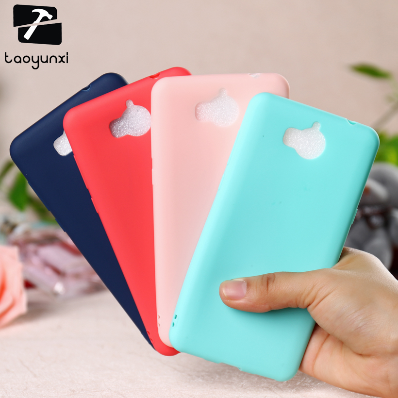 TAOYUNXI Case Cover For <font><b>Huawei</b></font> Y5 <font><b>2017</b></font> Y5 III Y5 3 <font><b>Y6</b></font> <font><b>2017</b></font> MYA-L22 MYA-L03 MYA-L23 MYA-L02 Honor 6 Play Case Soft TPU Bag Hood image