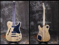 Starshine Semi Hollow Body Electric Guitar CC TL50 Custom Style ASH BodyP90 Pickups Black Pickguard