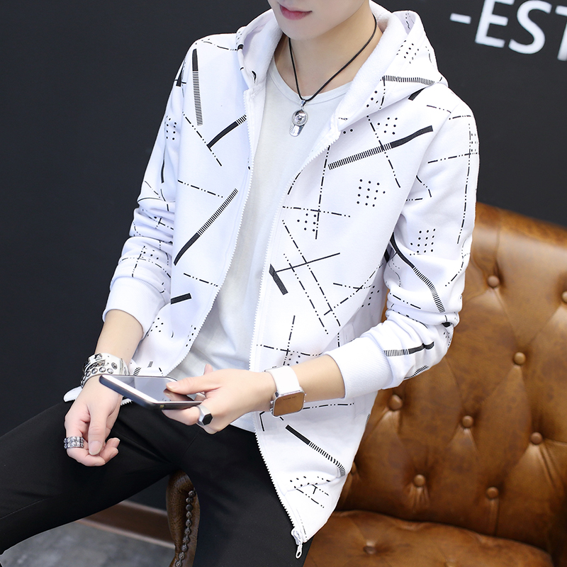 Jackets Men Korean Style Casual Males Coat Students Slim Fit Mens Printed Long Sleeve High Quality Comfortable Ulzzang Daily 22
