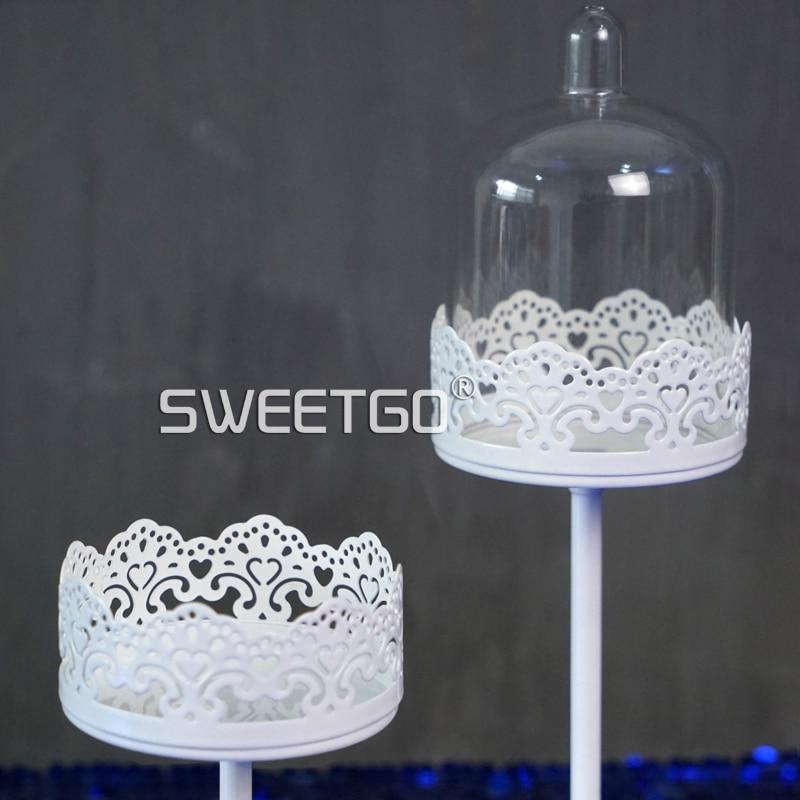 SWEETGO Mini Cupcake, tort ev partiyası bəzək üçün ağ şam - Mətbəx, yemək otağı və barı - Fotoqrafiya 2