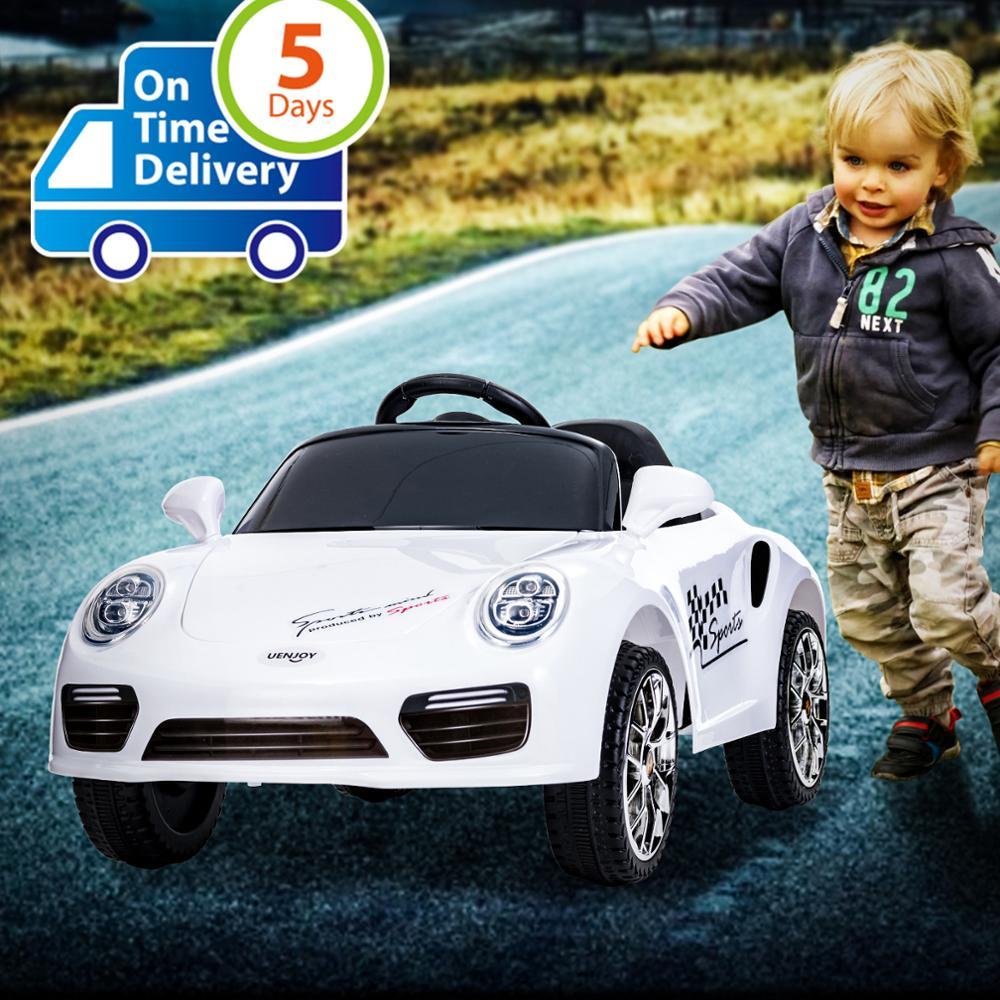 Uenjoy Kids Ride on Cars 6 v batterie puissance enfants véhicules électriques avec roues Suspension, musique, télécommande, phares et klaxon