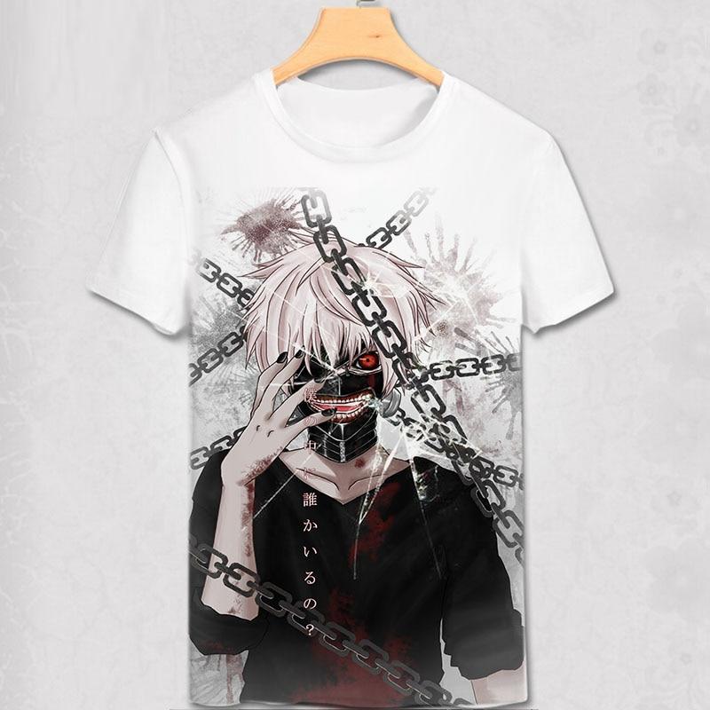 Мужская футболка с короткими рукавами Tokyo Ghoul Ninja, футболка с цифровым принтом Tokyo Ghoul