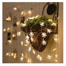 Снежинка светодиодный Сказочный свет с батареей гирлянды для рождественской вечеринки Крытый Открытый Праздник Свадьба Новогоднее украшение
