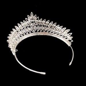 Image 5 - כתר סרט קלאסי יוקרה גיאומטרי עיצוב חתונה שיער אביזרי אלגנטי לנשים באיכות גבוהה BC3103 קורונה פרינססה