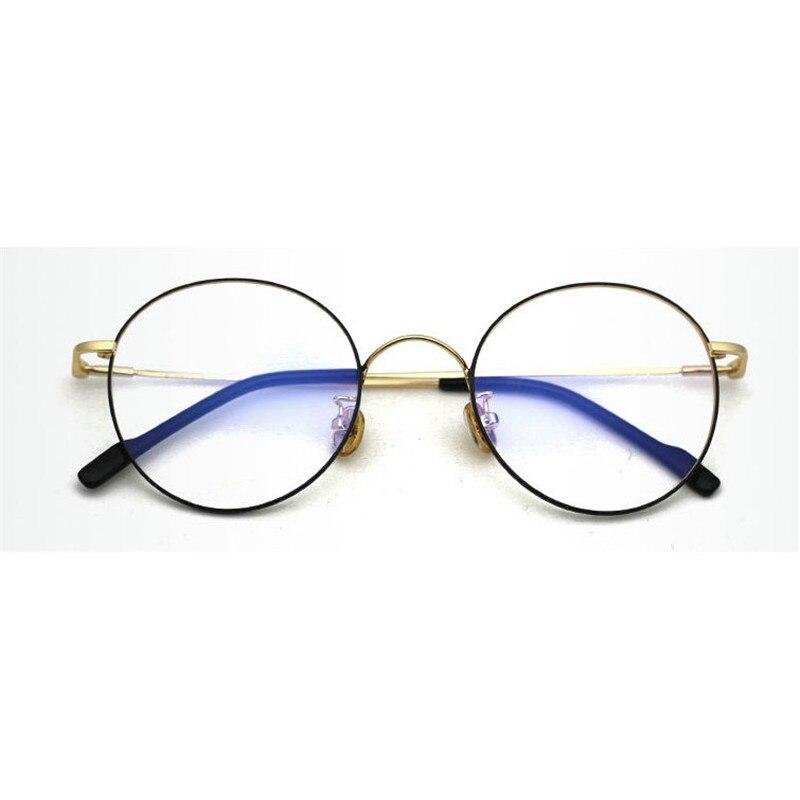 MINCL/Coreano Gafas Retro Marco Borde Completo Oro Gafas Marco Gafas ...