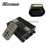 Federal Signal 200W Wireless Car Siren 10 Tones With Microphone 2 Light Switches PS 7000B Siren