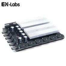 En labs 6 채널 3 핀 4 핀 컴퓨터 cpu 쿨러 케이스 팬 속도 컨트롤러 (pc 케이스 내부 및 광업 용 고무 백업 탭 포함)
