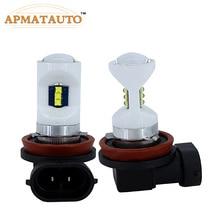 2xwhite 6000 К H11 H8 Керамика светодиодный автомобилей противотуманные лампы H7 HB3 9005 9006 HB4 P13W PSX26W с Cree чипы автомобили дневного света лампы