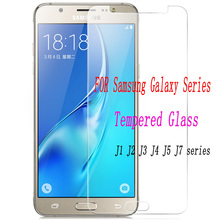 2pcs Tempered Glass for Samsung Galaxy J1 J2 J3 J4 J5 2016 2017 2018 Explosion-p