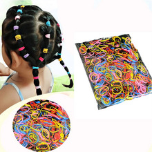 100pcs/lots baby girl Rubber Rope Ponytail Holder Elastic Hair Bands Ties Braids Plaits hair clip headband Hair rope Accessories 100pcs girl elastic bands ponytail holder rubber hair elastic kid accessories candy ribbon ring rope children jewelry accessory