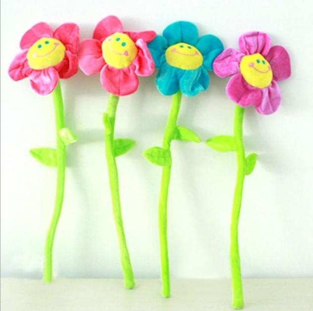 20pcs / lot 32cm Cartoon Flori de soare flori de pluș Plante de pat - Jucării moi și plușate