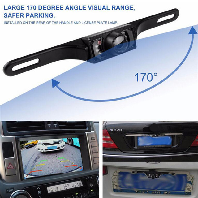 7 LED Night Vision Auto Rear View 135 Degree Rotation Wide Angle IP67 Waterproof Car Rear View HD Parking Camera