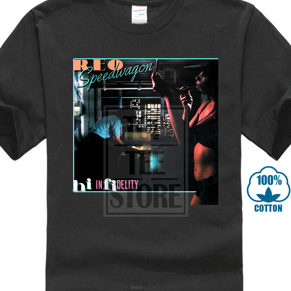 Reo Speedwagon Square Hi Infidelity T Shirt S M L Xl 2Xl New Official