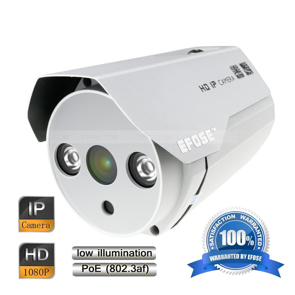 EFOSE FO-3IB212-N 2MP Full HD Network Mini IR Bullet POE Camera Outdoor HD 1080P Low Illumination