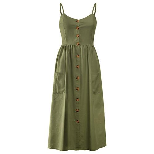 a2ce39e49cb Army green. GREEN. Red dot. arrow down. Похожие товары. Casual Vintage Sundress  Women Summer Dress 2019 Boho Sexy ...