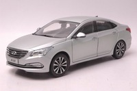 1:18 Diecast Model for Hyundai Mistra Silver Alloy Toy Car Miniature Collection Sonata