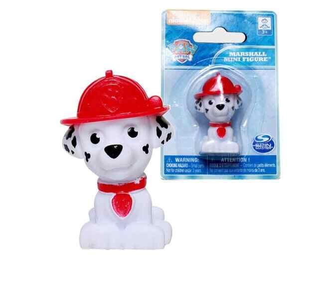Genuine Paw Patrol - 1pc Paw Patrol Mini toy action Figures Figurines Zuma Rocky Marshall Rubble Chase Skye